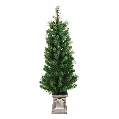 Sterling 4-ft. Virginia Pine Potted Pre-Lit Christmas Tree