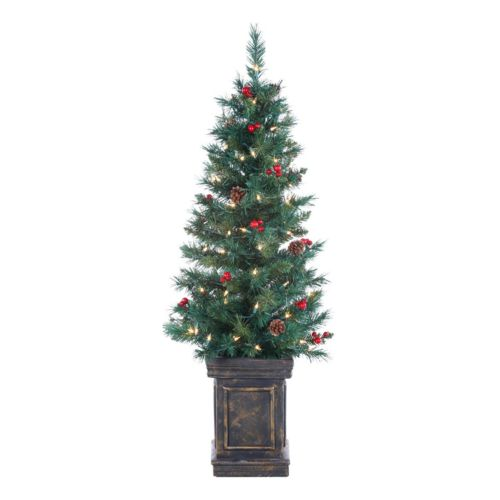 Sterling 4-ft. Tucson Pine Potted Pre-Lit Artificial Christmas Tree