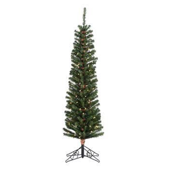 sterling 6 12 ft pencil fir pre lit artificial christmas tree - 6 Pre Lit Christmas Tree