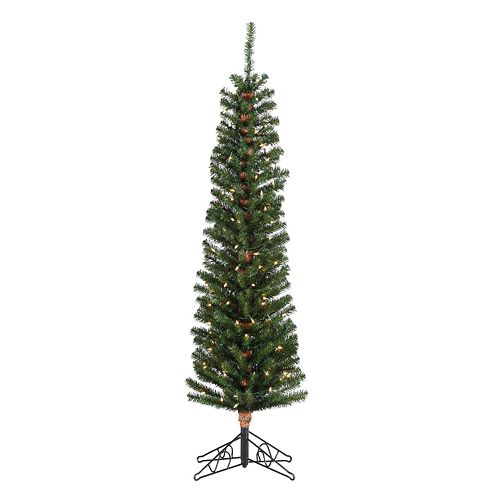 Pencil Fir Pre-Lit Artificial Christmas Tree - Sterling 6 1/2-ft. Pencil Fir Pre-Lit Artificial Christmas Tree