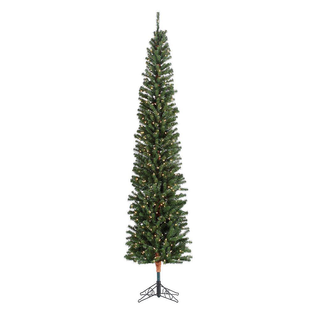 Sterling 7 1/2-ft. Pencil Fir Pre-Lit Artificial Christmas Tree