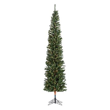 Sterling 7 1/2-ft. Pencil Fir Pre-Lit Artificial Christmas Tree