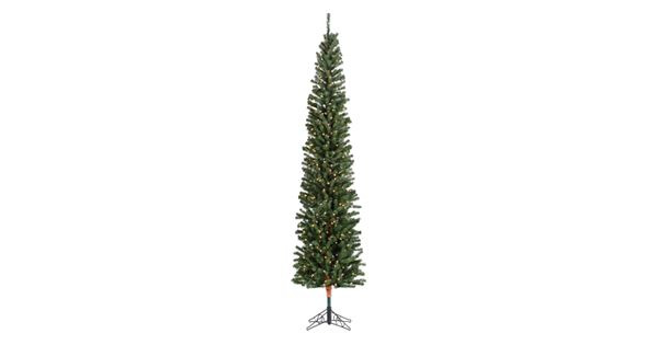 Pencil Drawing Of Christmas Tree: Sterling 7 1/2-ft. Pencil Fir Pre-Lit Artificial Christmas