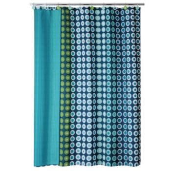 Allure Home Creations On a Dot Fabric Shower Curtain