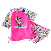 Jumping Beans Monkey 2-pc. Rash Guard Set - Toddler