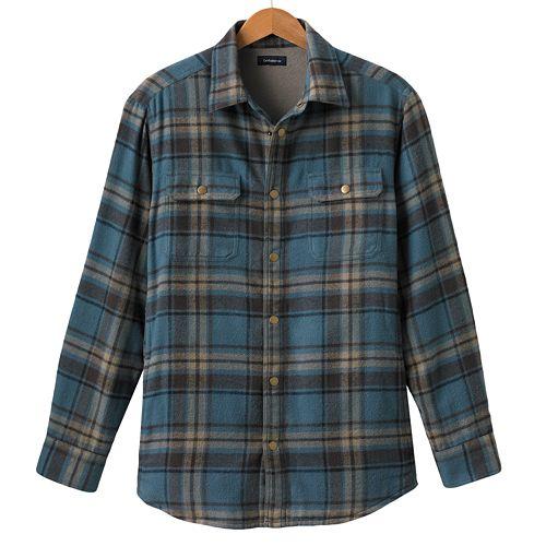 Croft & Barrow® Plaid Flannel Shirt Jacket - Men