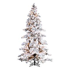 Sterling 7 1/2-ft. Pre-Lit Flocked Spruce Artificial Christmas Tree