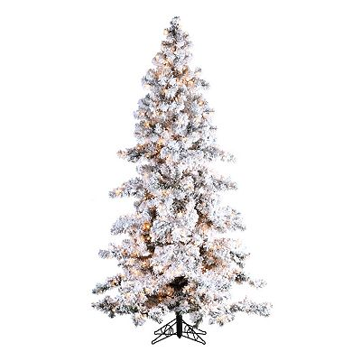 Sterling 7 1/2-ft. Pre-Lit Flocked Spruce Christmas Tree