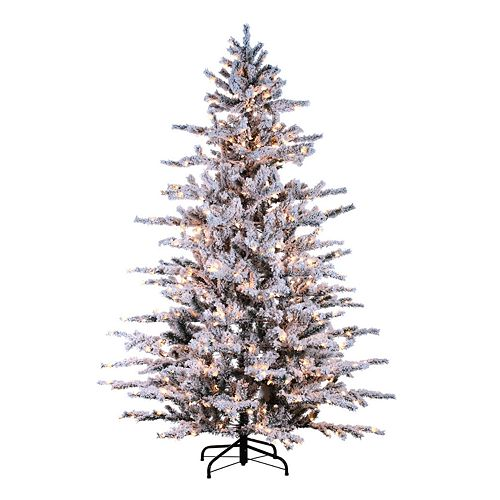 huge selection of 514a8 ae3ea Sterling 7 1/2-ft. Pre-Lit Flocked Artificial Christmas Tree