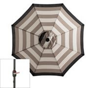 SONOMA outdoors Crank and Tilt Striped Solar LED Patio Umbrella
