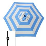 SONOMA outdoors Crank and Tilt Striped Patio Umbrella