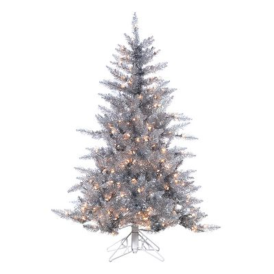 Sterling 4 1/2-ft. Pre-Lit Ashley Silver-Tone Christmas Tree