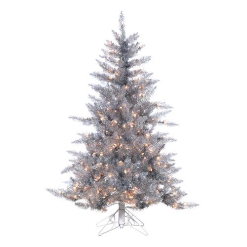 Sterling 4 1/2-ft. Pre-Lit Ashley Silver-Tone Artificial Christmas Tree