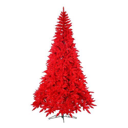 Kohls Christmas Trees.Sterling 7 1 2 Ft Pre Lit Ashley Red Artificial Christmas Tree