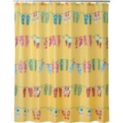 Allure Home Creations Sun & Sand Fabric Shower Curtain