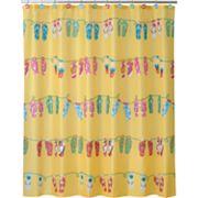Allure Home Creations Sun & Sand Fabric Shower Curtain
