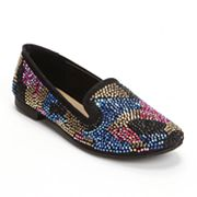 Candie's Embellished Smoking Flats - Women