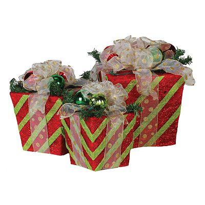 Sterling 3-pc. Outdoor Pre-Lit Gift Box Set