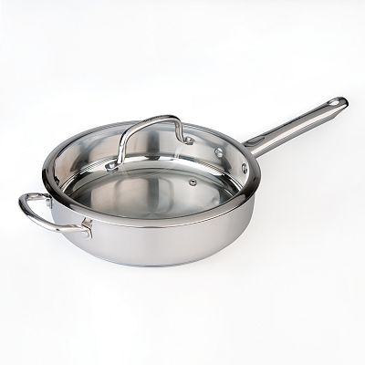 BergHOFF Boreal 10-in. Stainless Steel Covered Deep Skillet