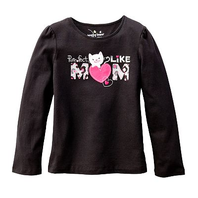 Jumping Beans Purrfect Like Mom Tee - Girls 4-7