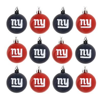 New York Giants 12-pk. Ball Ornaments