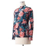 Croft and Barrow Essential Printed Mockneck Top