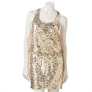 City Triangles Sequin Racerback Dress - Juniors