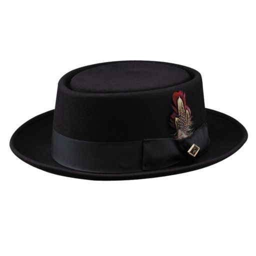 Stacy Adams Feathered Rocker Fedora