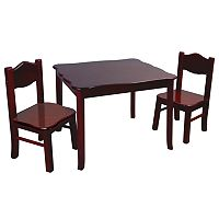 Guidecraft Classic Espresso Table & Chair Set