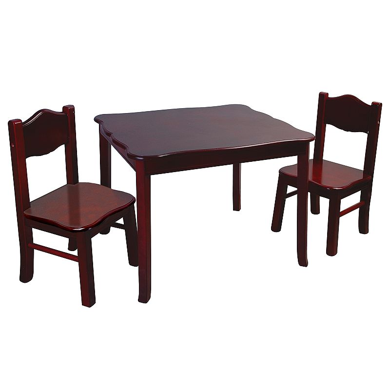 Guidecraft G86202 Classic Espresso Table & Chairs Set