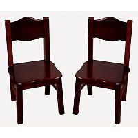 Guidecraft 2-pc. Classic Espresso Chair Set