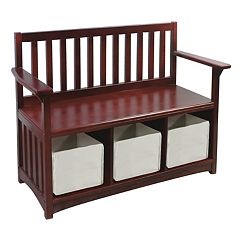 Guidecraft Classic Espresso Storage Bench