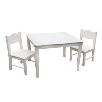 Guidecraft Classic White Table & Chair Set