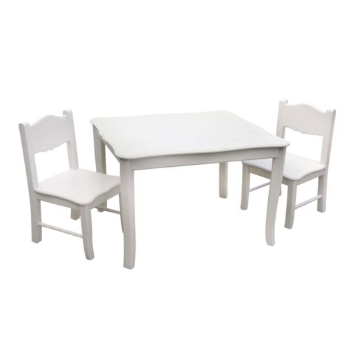Guidecraft Classic White Table and Chair Set
