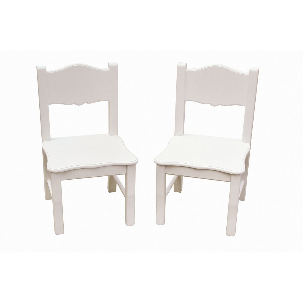Guidecraft 2-pc. Classic White Chair Set