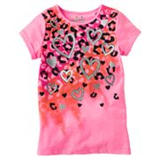 Jumping Beans Cheetah and Heart Neon Tee - Girls 4-7