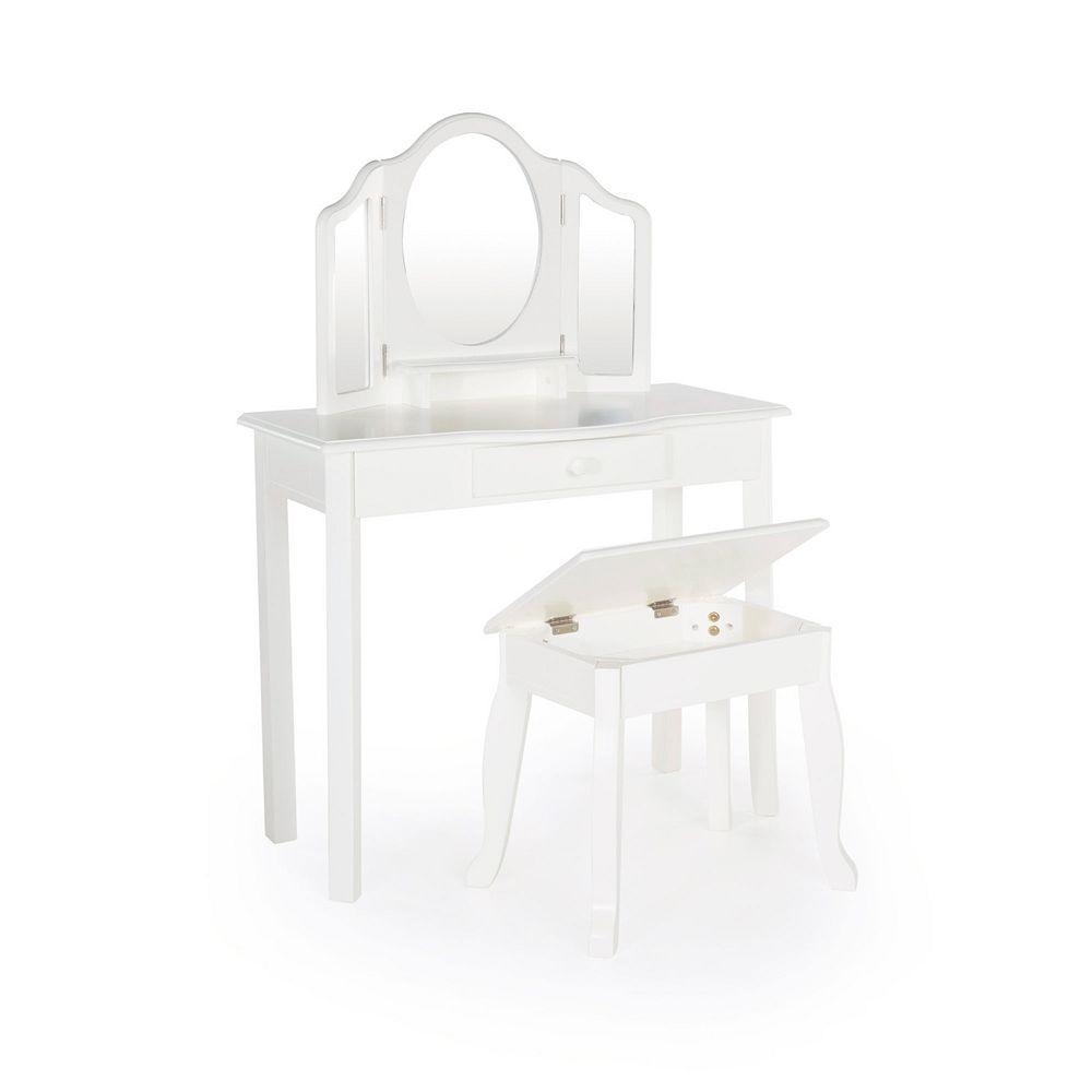Classic toddler vanity stool set guidecraft classic toddler vanity stool set geotapseo Choice Image