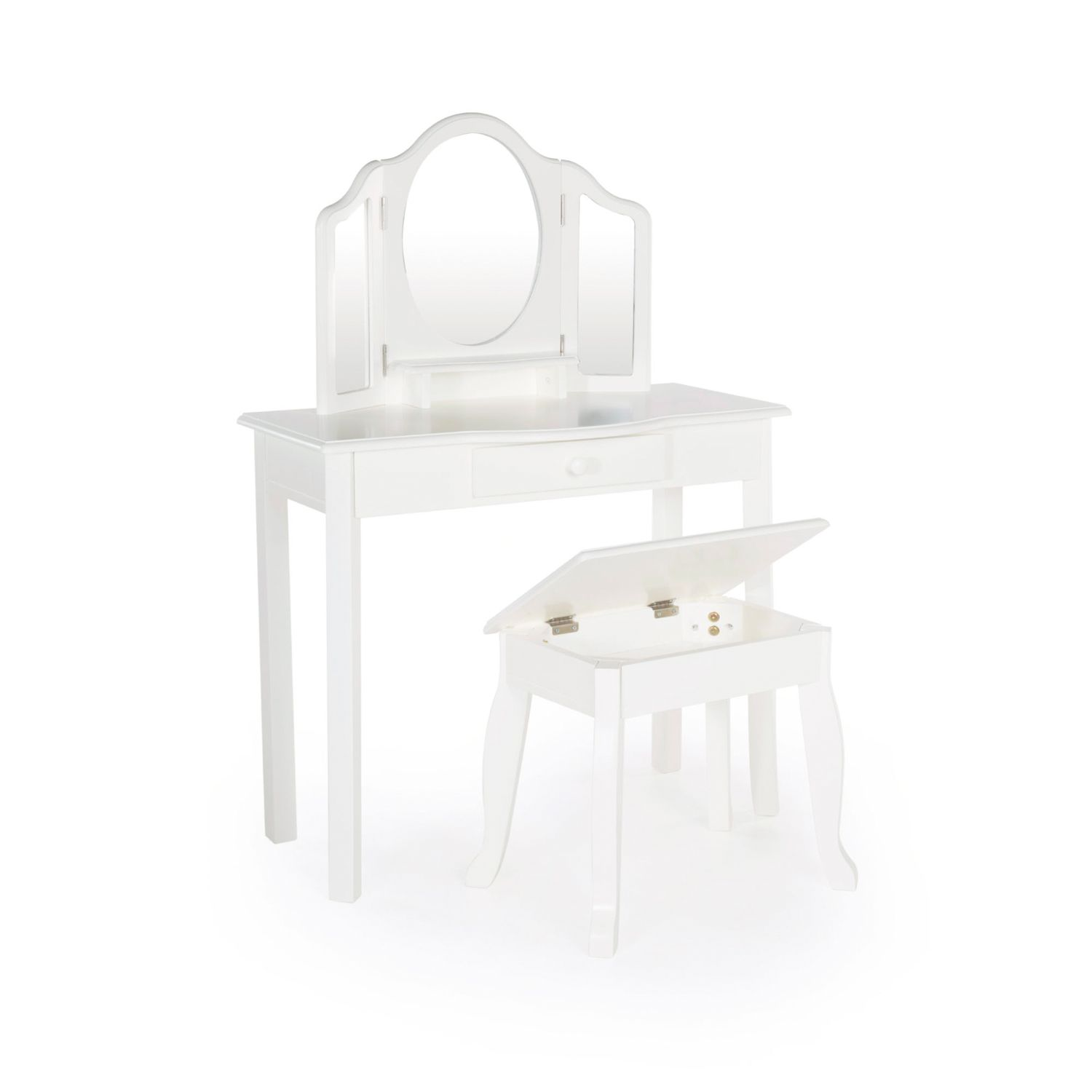 Guidecraft Classic Toddler Vanity U0026 Stool Set