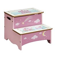 Guidecraft Princess Storage Step Stool