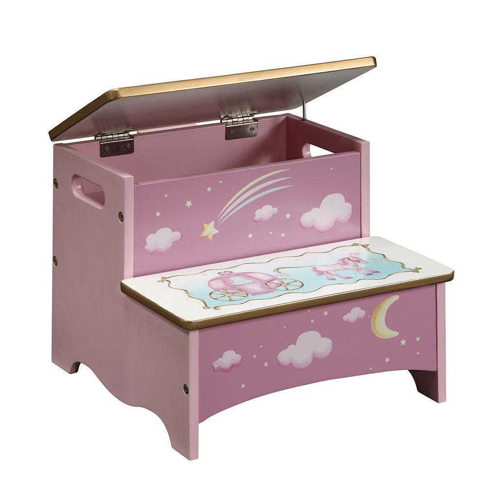 Guidecraft Princess Storage Step Stool