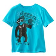 Jumping Beans Boombox Chimp Slubbed Tee - Toddler