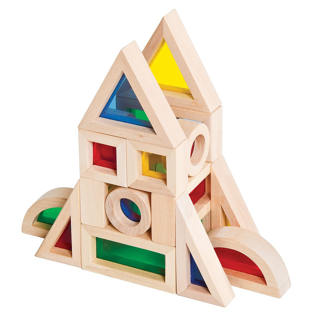 Guidecraft 20-pc. Junior Rainbow Block Set