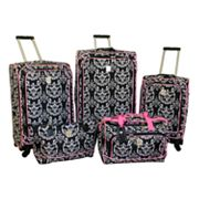 Jenni Chan Luggage, Damask 5-pc. Luggage Set