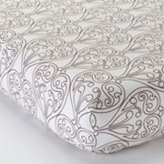 Bacati Damask Fitted Crib Sheet