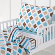 Bacati Mod Diamonds and Stripes 4-pc. Toddler Bedding Set