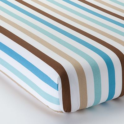 Bacati Mod Diamonds and Stripes Fitted Crib Sheet
