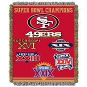 San Francisco 49ers Commemorative Throw Blanket by Northwest