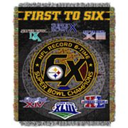 Pittsburgh Steelers Commemorative Throw Blanket by Northwest