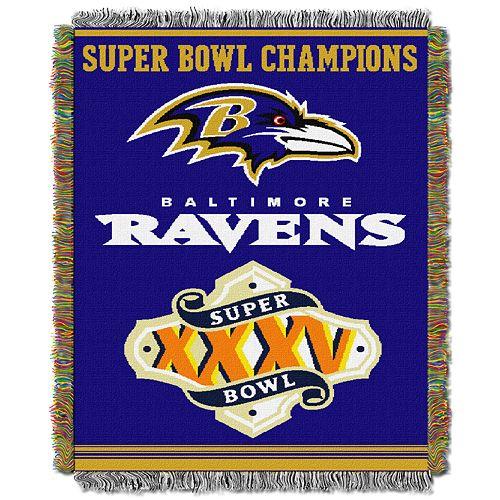 Baltimore Ravens Commemorative Throw Blanket by Northwest