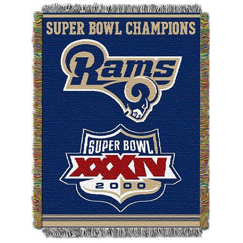 Los Angeles Rams Commemorative Throw Blanket by Northwest